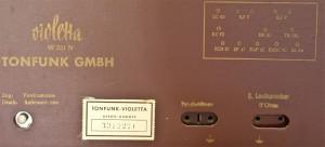 Tonfunk Violetta W331N