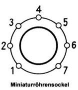 Miniaturröhrensockel
