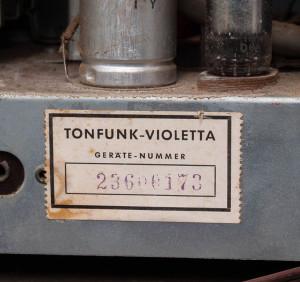 Tonfunk Violetta Phonosuper W336e-3D