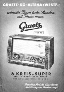 Graetz 169W